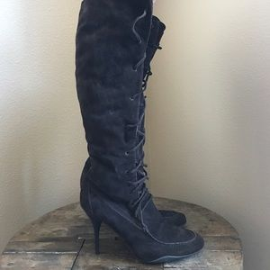 KORS by MICHAEL KORS KNEE HIGH LACE UP 👢